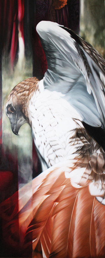 03_A-Redtailed-Hawk-and-the-Paris-Apartment-of-Yves-st-Laurent-~-36x80-inches-~-sold